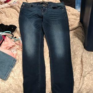 Express mid waist jean skinnies
